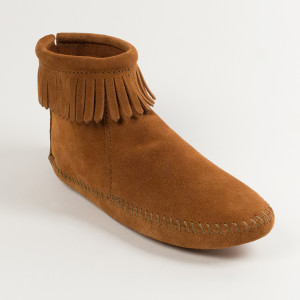 Women's Back Zip Boot Brown Softsole