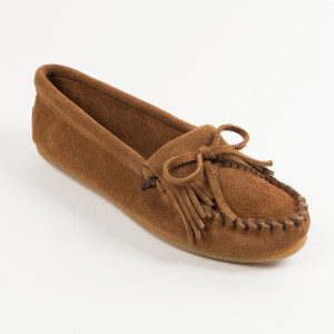 Women's Kilty Suede Moc Dusty