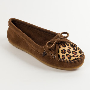 Women's Kilty Leopard Moc  Dusty