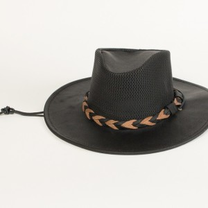 """Airflow """"Fold Up"""" Outback Hat Black"""