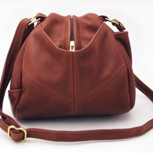 Droplet Leather Handbag