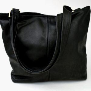 Basic Tote Leather Handbag
