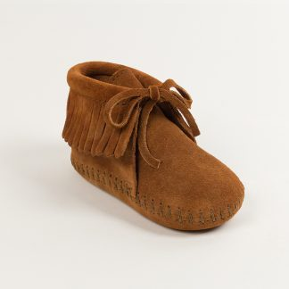 Infant Fringe Bootie Brown