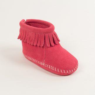 Infant Back Flap Bootie Hot Pink
