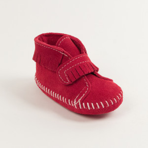 Infant Front Strap Bootie Red