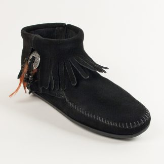Women's Concho Feather Boot Black