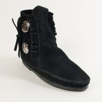 Women's Two Button Boot Black Hardsole