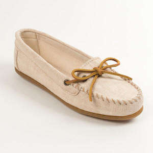 Womens Canvas Moc Natural
