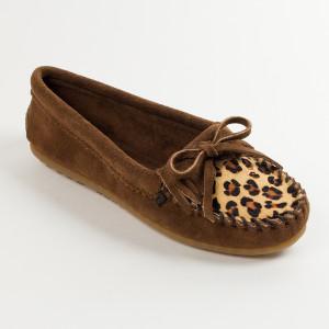 Women's Kilty Leopard Moc  Dusty