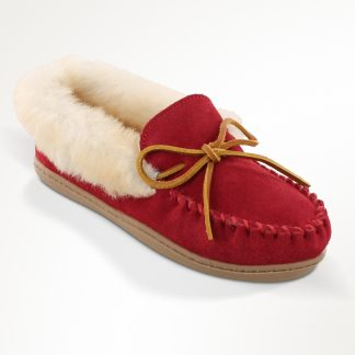 Women's Alpine Sheepskin Moc Red