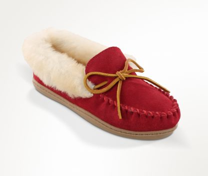 Women's Alpine Sheepskin Moc Red