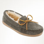 Women's Sheepskin Hardsole Moc Grey