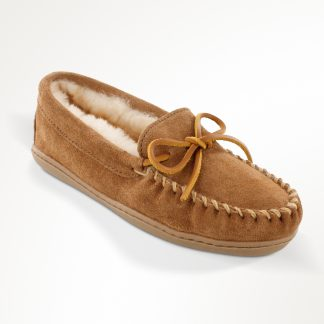 Women's Sheepskin Hardsole Moc Tan