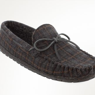 Men's Casey Slipper Charcoal Plaid