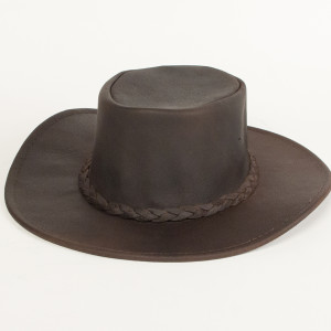 Fold Up Hat Dark Brown