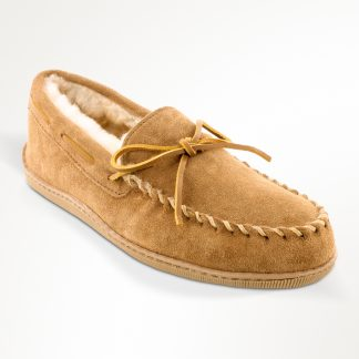 Men's Sheepskin Hardsole Moccasin Tan