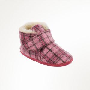 Infant Sawyer Bootie Pink Plaid