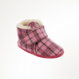 Infant Sawyer Bootie Pink Plaid
