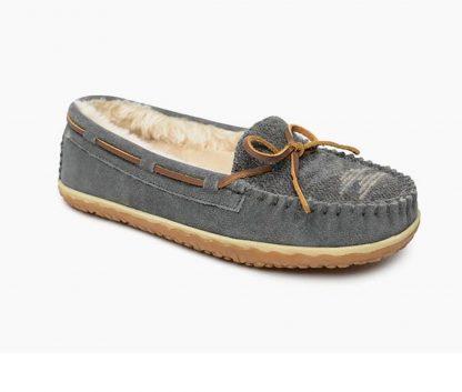 Tilia Slipper Grey Suede/Fabric